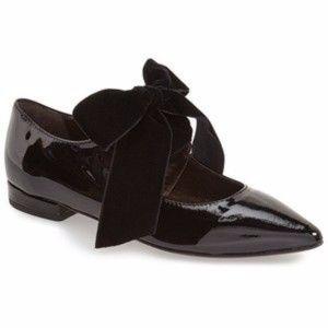 AGL Patent Bow Mary Jane Oxford Flat Black